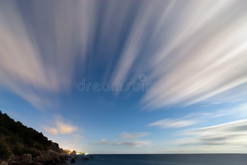 Movimiento del cielo fotografía de archivo libre de regalías