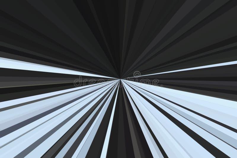 Movimiento del crepúsculo de la luz del coche en tono dramático El extracto irradia el fondo Modelo colorido del haz de las rayas ilustración del vector