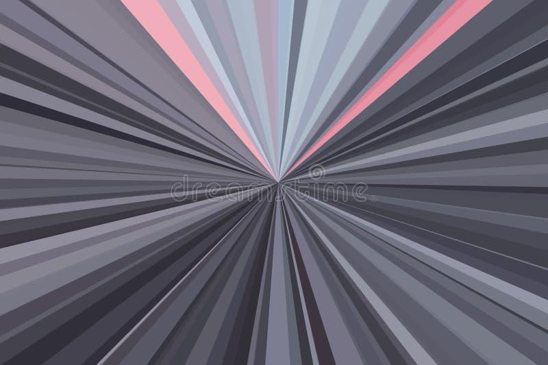 Movimiento del crepúsculo de la luz del coche en tono dramático El extracto irradia el fondo Modelo colorido del haz de las rayas stock de ilustración