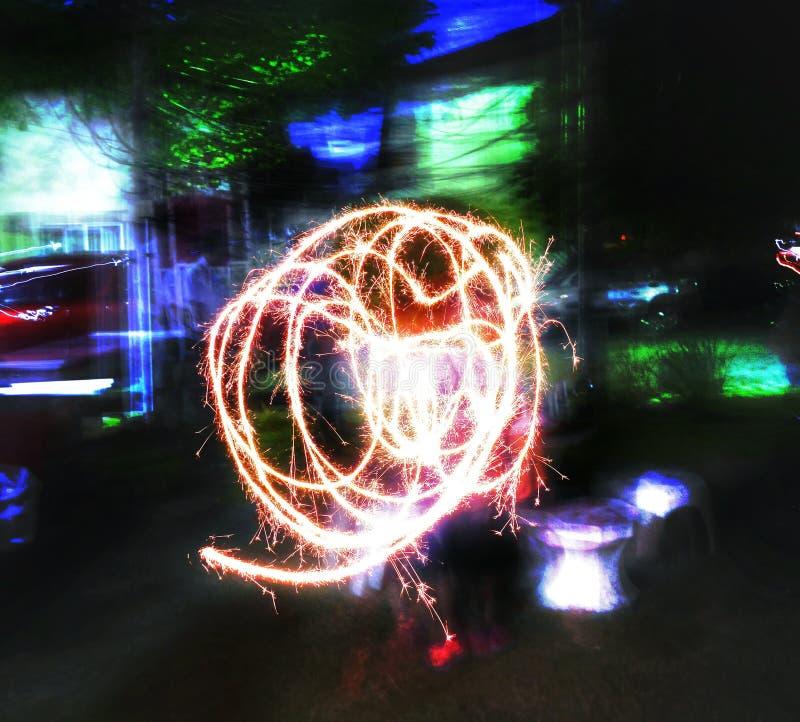 movimiento del fuego fotografía de archivo