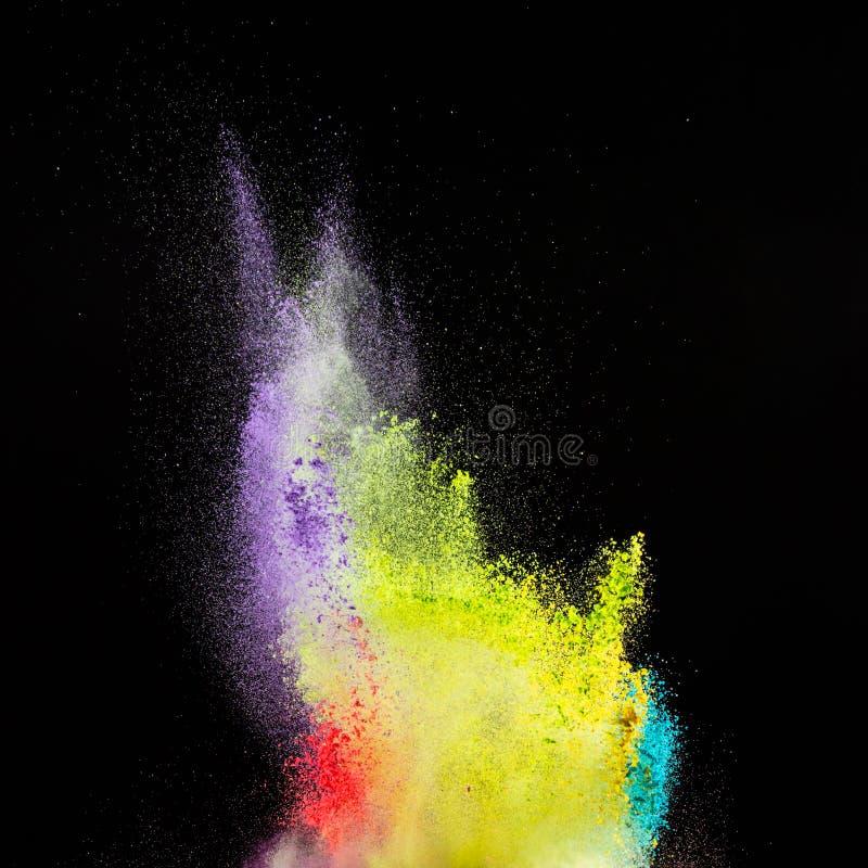 Movimiento del helada de la explosión de polvo coloreada fotografía de archivo libre de regalías