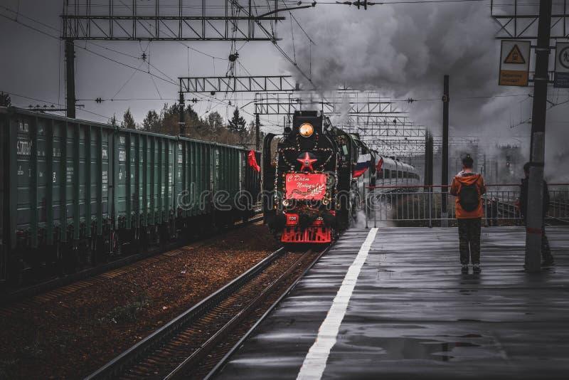 Movimiento del tren de la victoria imagenes de archivo