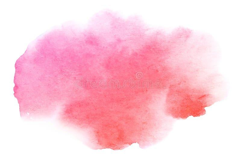 Movimiento dibujado mano abstracta del cepillo del rosa de la acuarela ilustración del vector