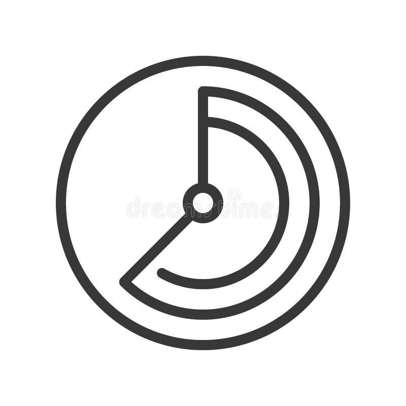 Movimiento editable del icono del reloj del velocímetro o del suavizador stock de ilustración