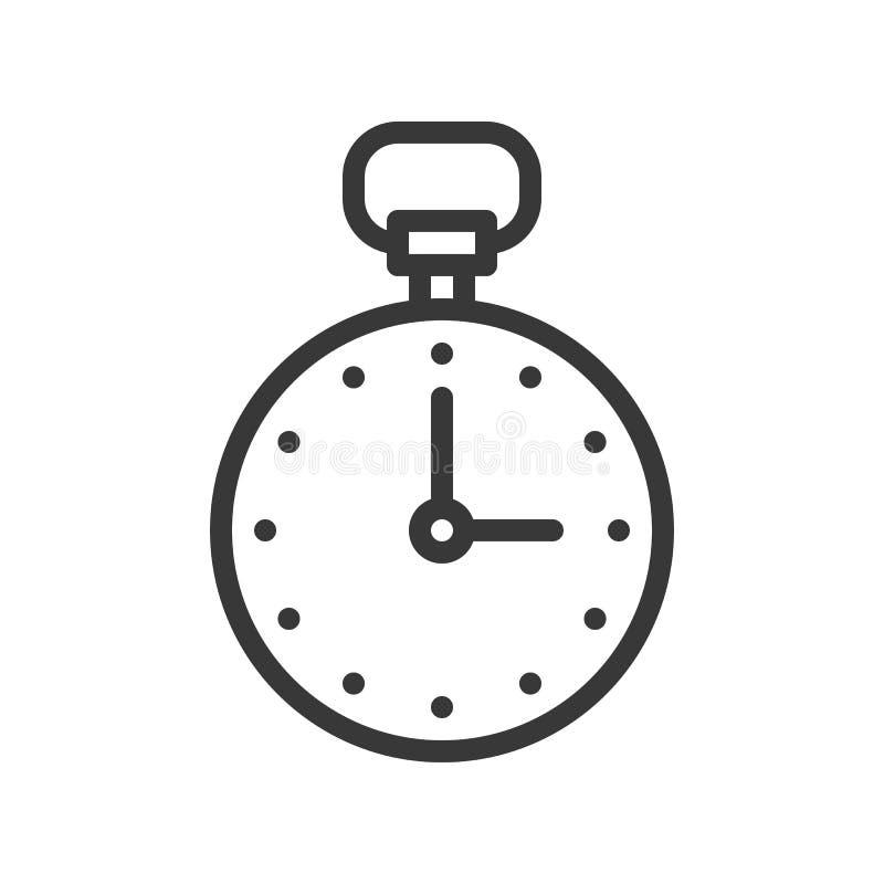 Movimiento editable perfecto del pixel del icono del cronómetro o del cronómetro hacia fuera stock de ilustración