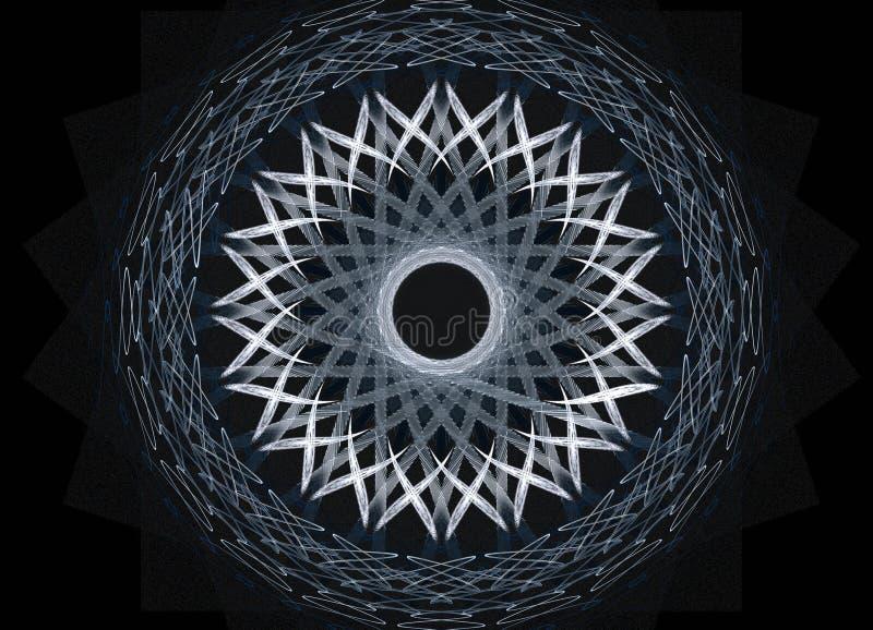 Movimiento en azul ilustración del vector