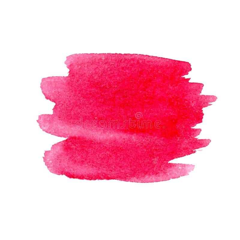 Movimiento exhausto del rosa de la acuarela de la mano imagen de archivo