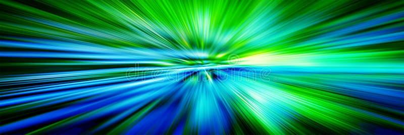 Movimiento Hyperspace en galaxia Concepto de viaje intergaláctico Espacio exterior de Starburst Modelo abstracto multicolor Illu  ilustración del vector
