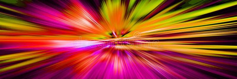 Movimiento Hyperspace en galaxia Starburst empañó el movimiento libre illustration