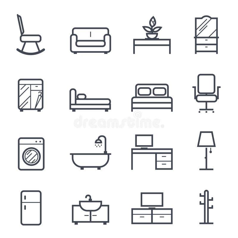 Movimiento intrépido del icono de los muebles ilustración del vector
