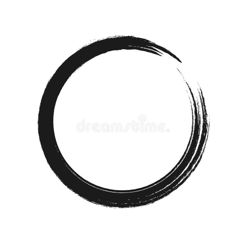Movimiento negro del cepillo bajo la forma de círculo Ilustración del vector libre illustration