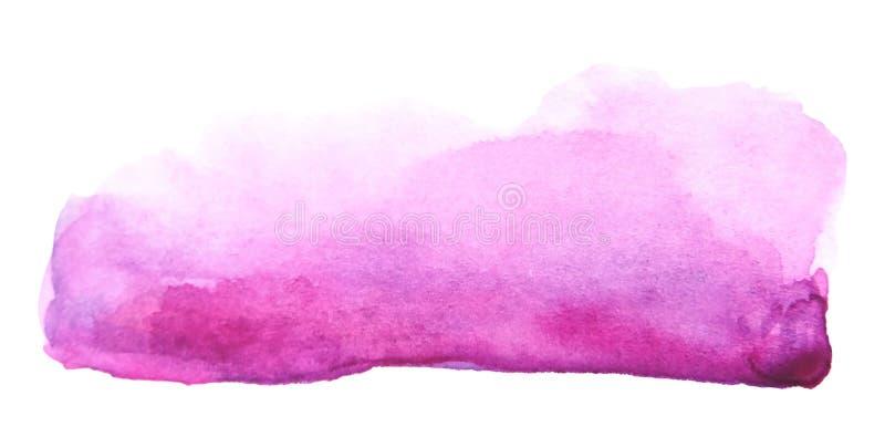 Movimiento púrpura creativo del cepillo de la acuarela artística stock de ilustración