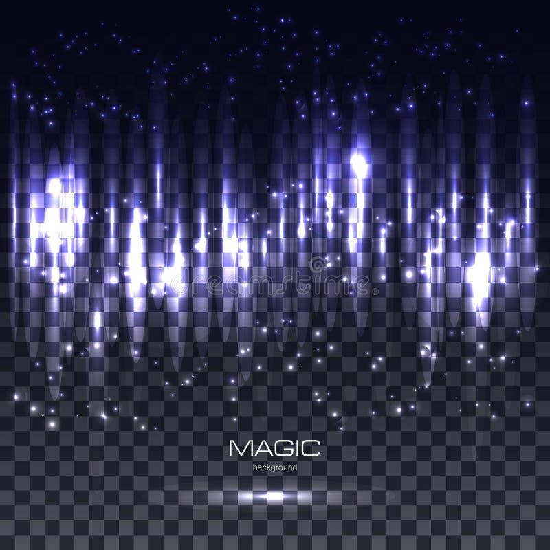 Movimiento propio de las partículas del brillo para la tarjeta de felicitación de lujo stock de ilustración