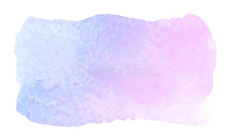 Movimiento purpúreo claro artístico abstracto del cepillo de la acuarela libre illustration