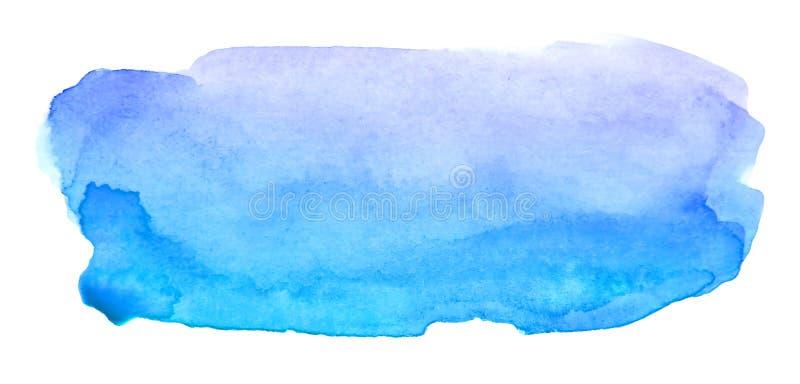 Movimiento rojo artístico del cepillo de la acuarela para el texto ilustración del vector