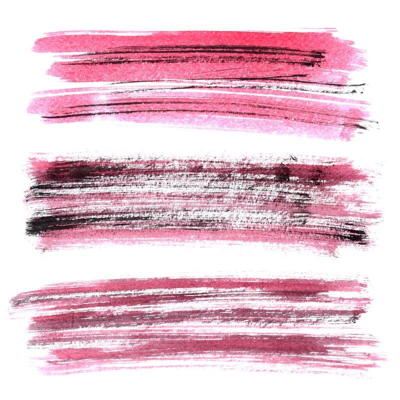 Movimiento rojo del cepillo del grunge ilustración del vector