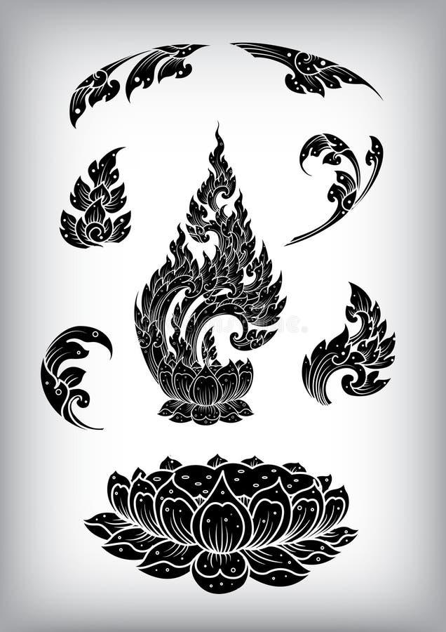 Movimiento tailandés del esquema, modelo del vector stock de ilustración