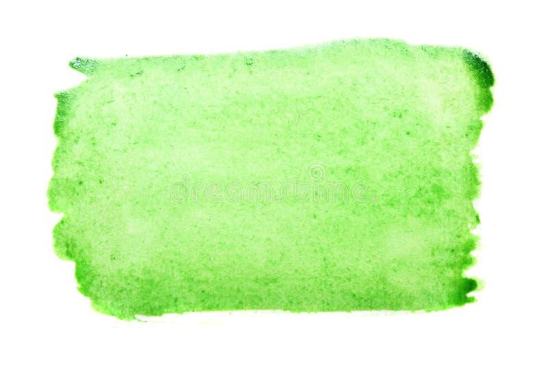 Movimiento verde del cepillo de la acuarela imagen de archivo libre de regalías
