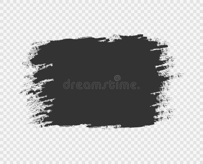 Movimiento y textura negros del cepillo Fondo del Grunge Marco negro, mella para el texto, bandera Antecedentes del dise?o del ve libre illustration