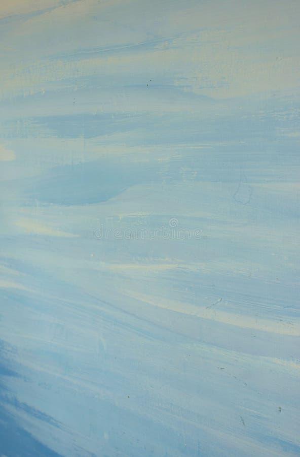 Movimientos abstractos azules de la pintura de aceite del fondo de diversas sombras imagen de archivo