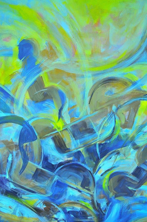 Movimientos abstractos de un cepillo del arte stock de ilustración