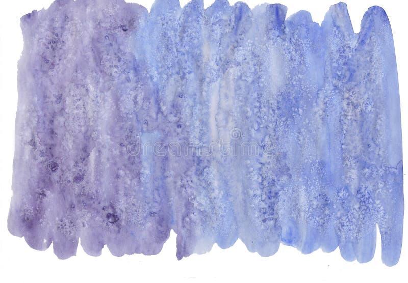 Movimientos abstractos del cepillo de la acuarela aislados en el ejemplo blanco, creativo, paleta de colores artística, mancha de imagen de archivo