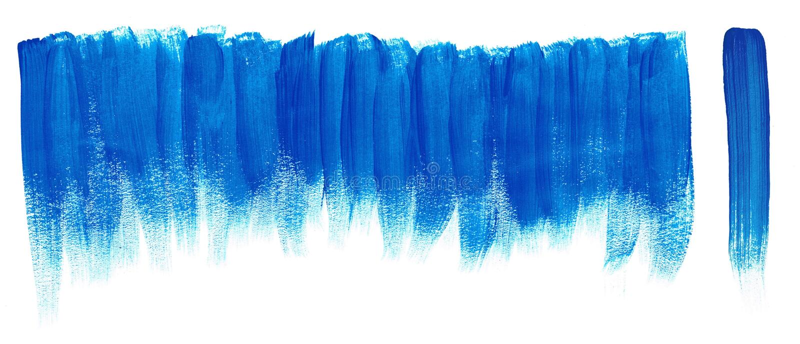 Movimientos azules de la pintura del cepillo stock de ilustración