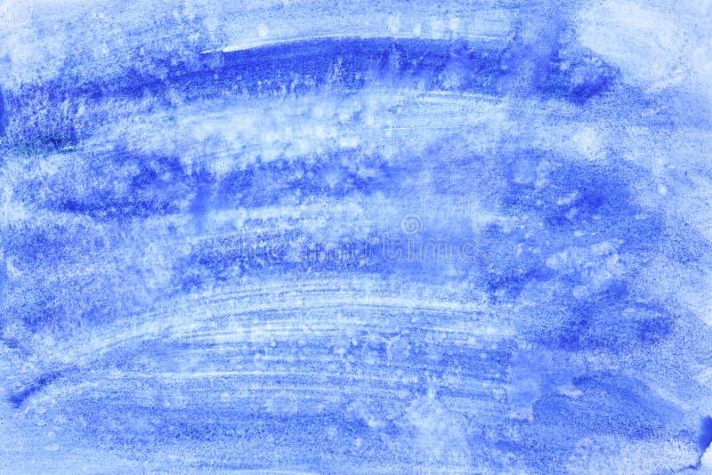 Movimientos azules del cepillo de la acuarela stock de ilustración