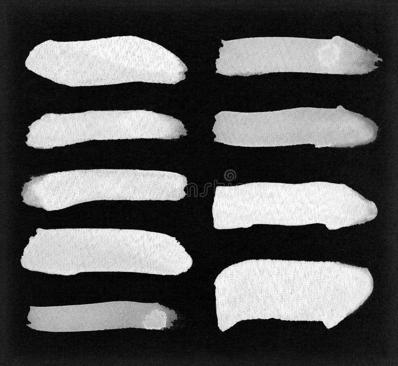 Movimientos blancos abstractos de la acuarela para su proyecto ilustración del vector