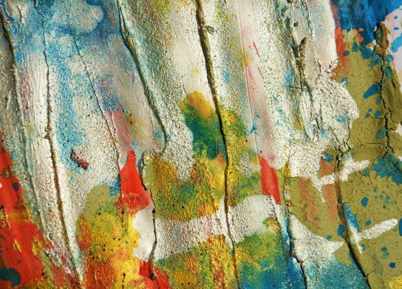 Movimientos cerosos en colores pastel de plata blancos del fondo y del cepillo de los puntos del rojo azul, tonalidades, puntos imágenes de archivo libres de regalías