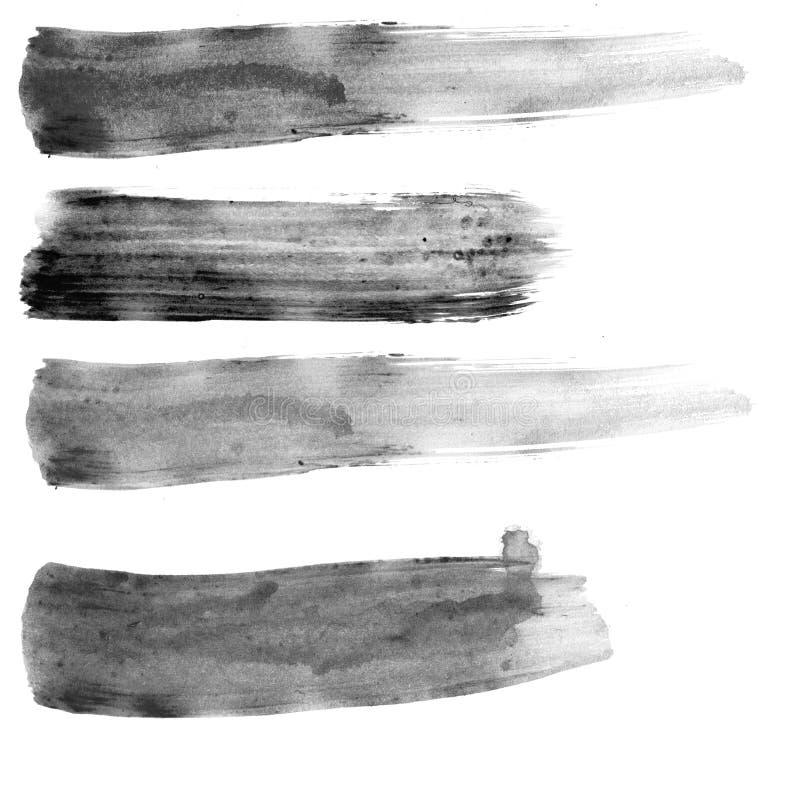 Movimientos de la brocha ilustración del vector