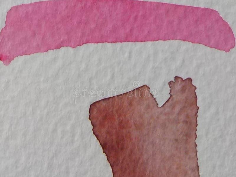 Movimientos del cepillo de pintura del Watercolour en el Libro Blanco imágenes de archivo libres de regalías