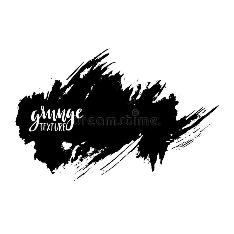 Movimientos del cepillo del vector de la tinta Ilustración del vector Textura dibujada mano de la acuarela del Grunge Espacio par stock de ilustración