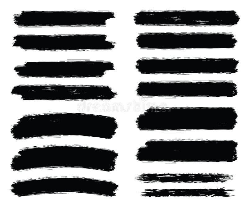 Movimientos del cepillo para los fondos del grunge ilustración del vector