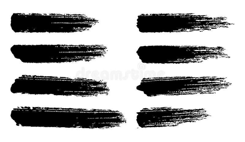 Movimientos del cepillo del vector para los fondos del grunge stock de ilustración