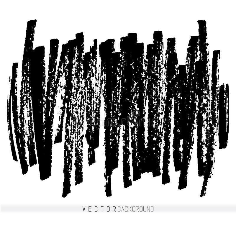Movimientos hechos a mano del marcador del vector Elementos del diseño de Grunge ilustración del vector