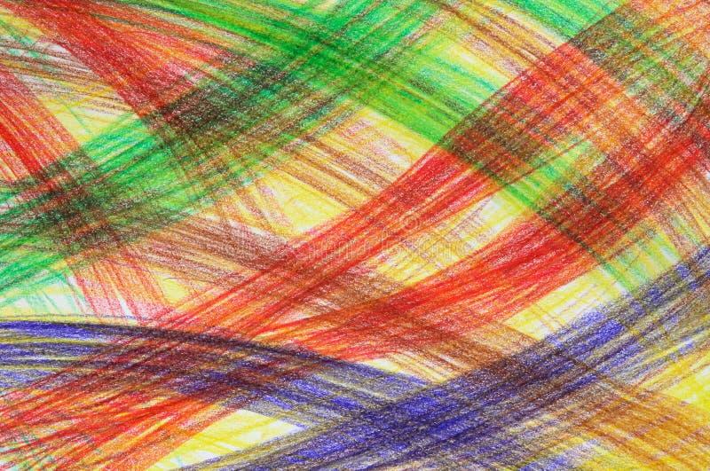 Movimientos multicolores a mano del creyón ilustración del vector