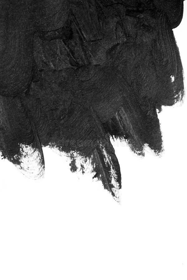 Movimientos negros del cepillo en el Libro Blanco aislado imagenes de archivo