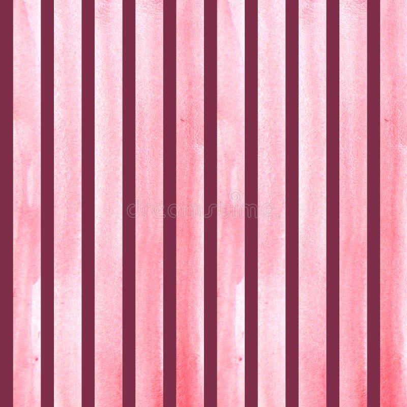 Movimientos pintados a mano del cepillo de la acuarela, línea, banderas, modelo Rayas amarillas aisladas en la pintura púrpura de imagenes de archivo