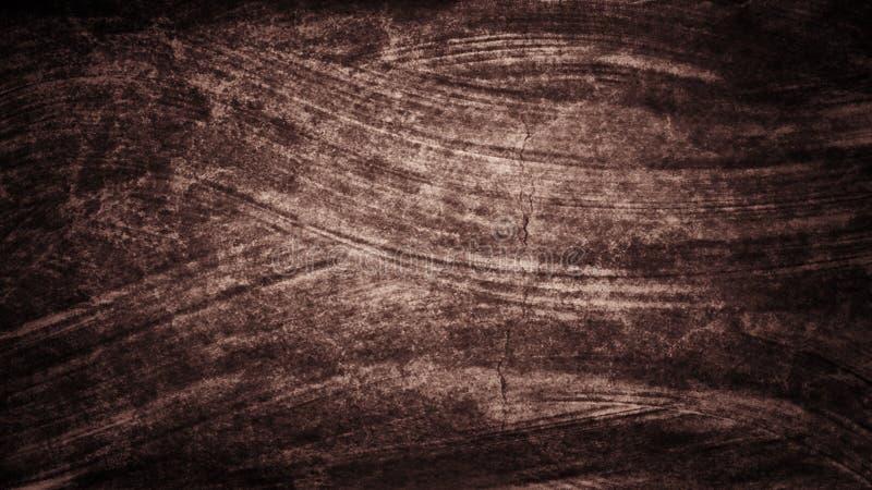 Movimientos pintados a mano del cepillo de la acuarela rojo marrón oscura del grunge El extracto alinea el fondo Ondas vivas de l ilustración del vector