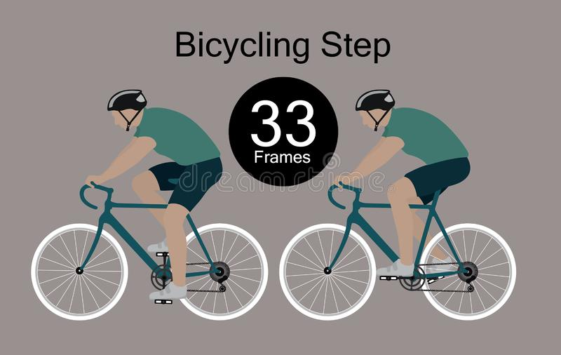 Movimientos rítmicos del ciclista imágenes de archivo libres de regalías
