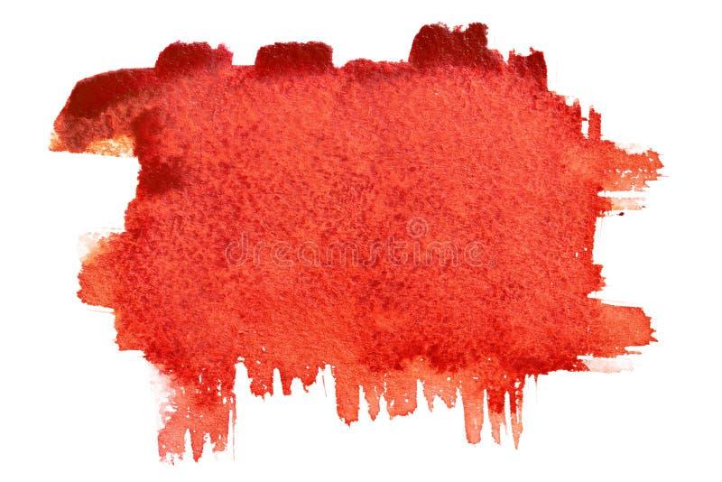 Movimientos rojos del cepillo imagen de archivo