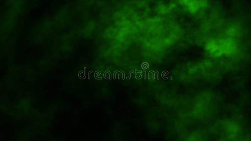 Movimientos verdes abstractos del vapor del humo en fondo El concepto de aromatherapy fotos de archivo
