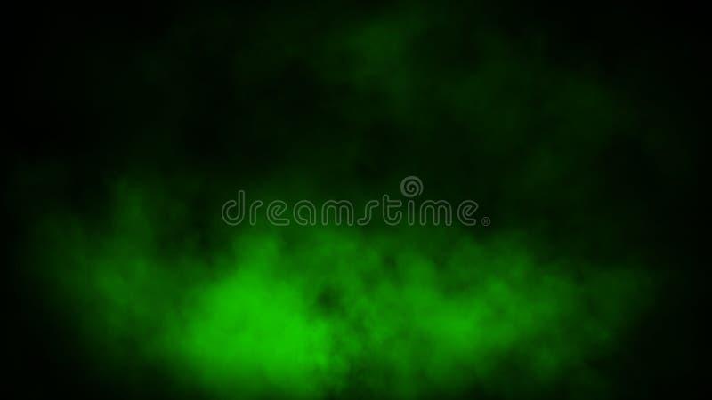 Movimientos verdes abstractos del vapor del humo en fondo El concepto de aromatherapy fotos de archivo libres de regalías