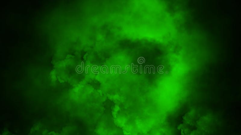 Movimientos verdes abstractos del vapor del humo en fondo El concepto de aromatherapy imagen de archivo libre de regalías