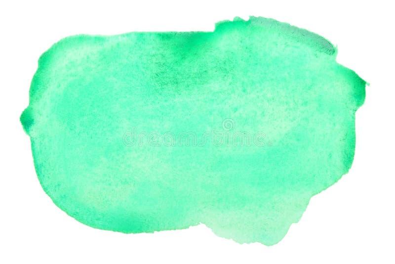 Movimientos verdes del cepillo de la acuarela imagen de archivo
