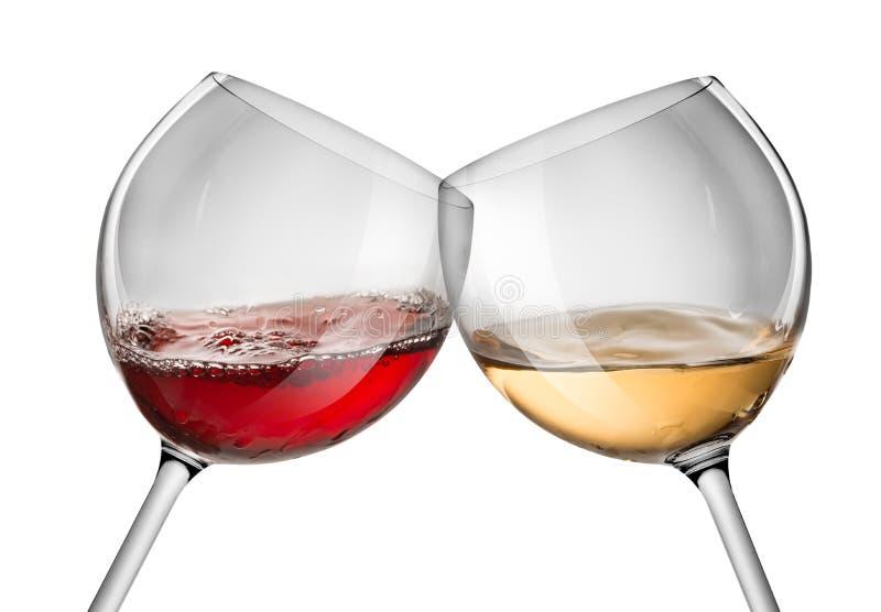 Moving красное и белое вино стоковое фото