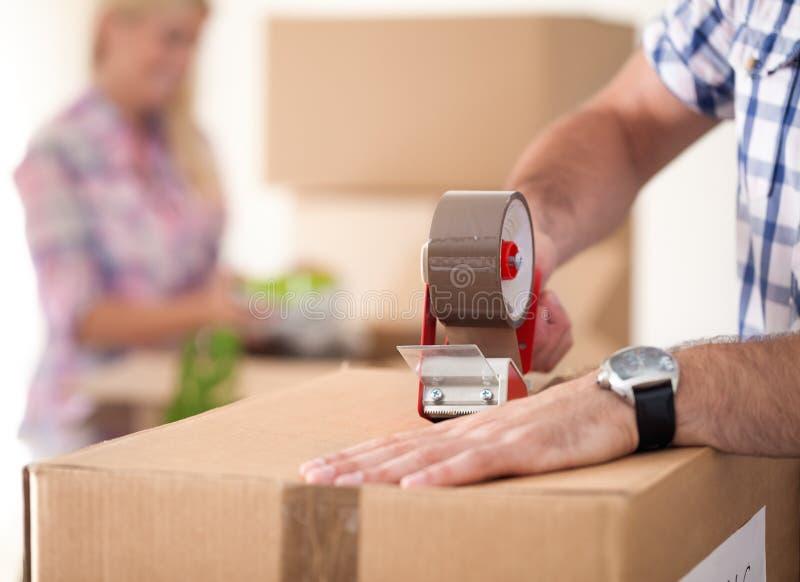 Moving дом стоковое изображение rf