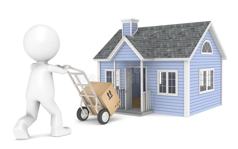 Moving in stock illustration