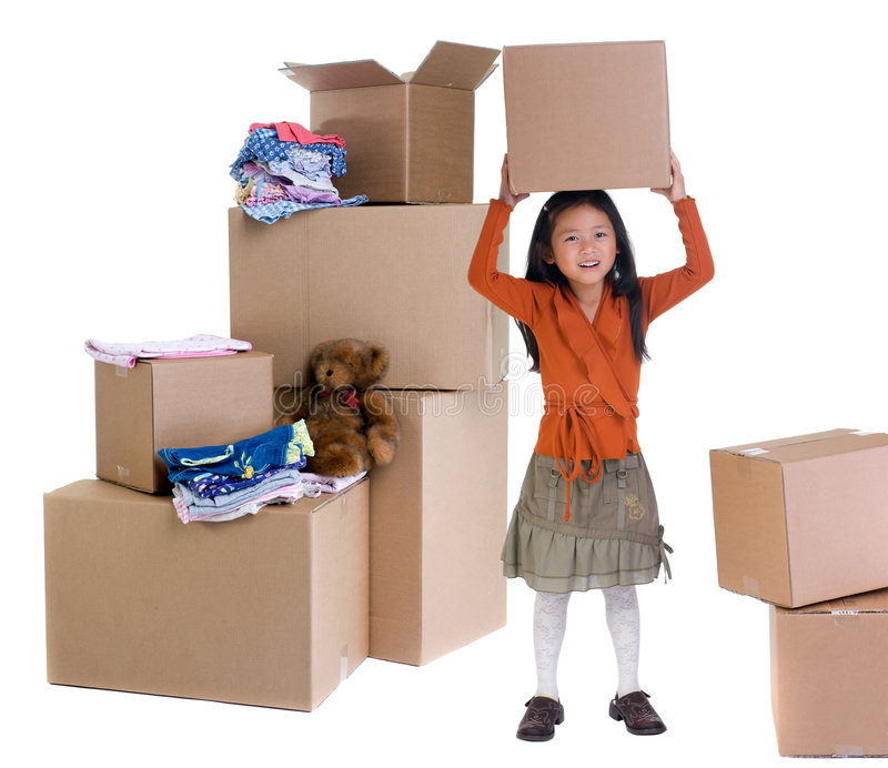 Download Moving stock image. Image of person, bunny, bear, clothing - 3217449